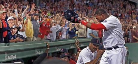 Fans cheered David Ortiz following his second home run of the game.